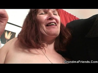 Hard 3some with oldie after strip poker