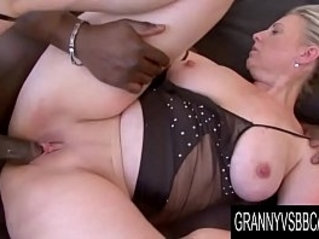 Granny Vs BBC Mature Nicol Gets her pussy Plowed by Her Black Lover