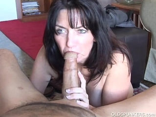 Cock for hungry old spunker gives an amazing blowjob