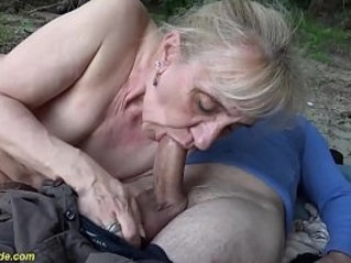 extreme horny years old granny rough outdoor banged