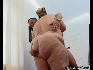 Fat old mature housewife gets tight