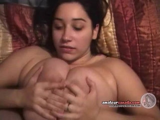 POV huge natural breasts sexy titjob