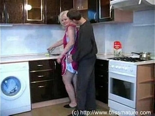 Russian Mom With Son In Kitchen Free Porn Videos