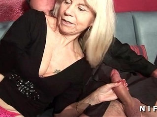 French mature gets double penetrated in a swinger club