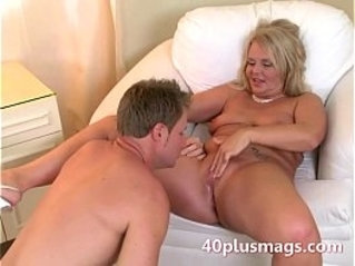 Plump blonde with Charly