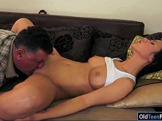 Pretty Denise Sky gets her pussy and ass licked by a grandpa