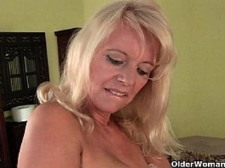 To hell with the rocking chair because granny needs a cum