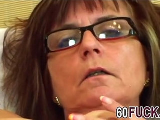 Granny with glasses gets fucked by younger guyer man hi