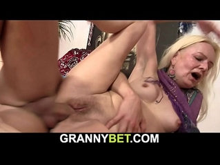 Small tits hairy pussy blonde granny