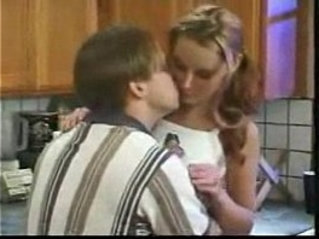 Kitchen her pussy With Teens