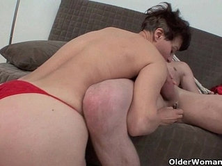 Moms meaty pussy lips feel so good around your big cock