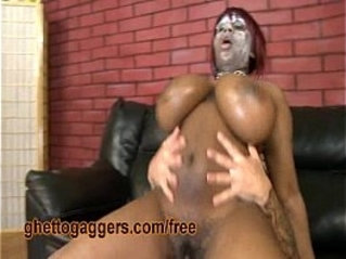 Chubby Black Fucked By A White Rod