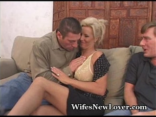 New Lover For Wife With creamy wet Pussy Hubby
