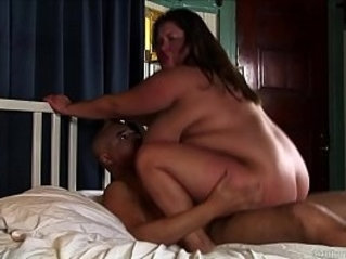 Super cute chubby brunette girl loves cum all over her face and nice big tits
