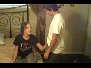 Sisters give brother a handjob to keep him quiet