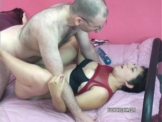 Slutty college girl raven is getting ass fucked by a geek